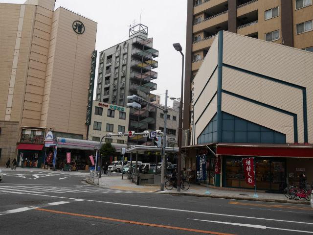 松屋町駅2番出口付近