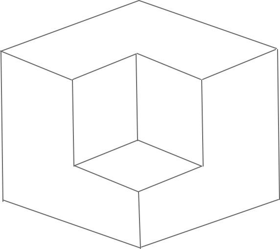 L字型のマンションイメージ