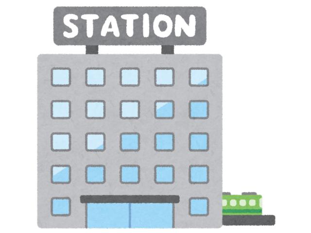 駅前と電車