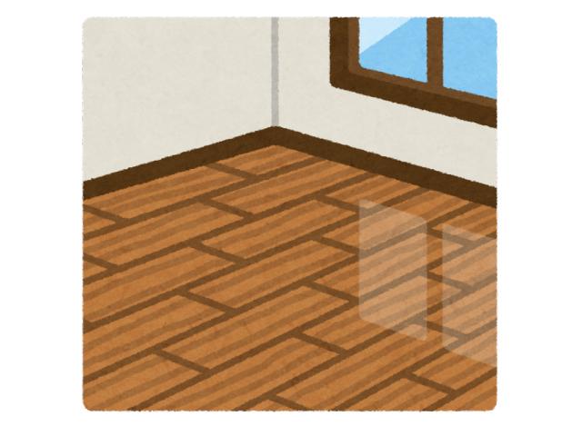 洋室の部屋と窓