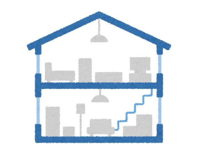 2階建て住宅の断面図