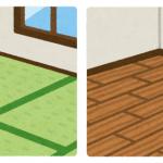 部屋の床、フローリングと畳