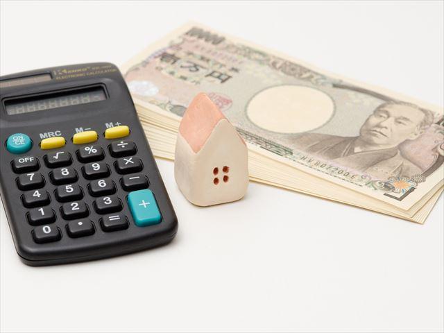 住宅ローン、お金、電卓、家