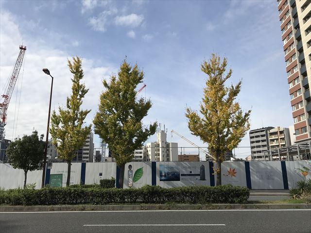 工事中の「グランドメゾン新梅田タワー THE CLUB RESIDENCE」