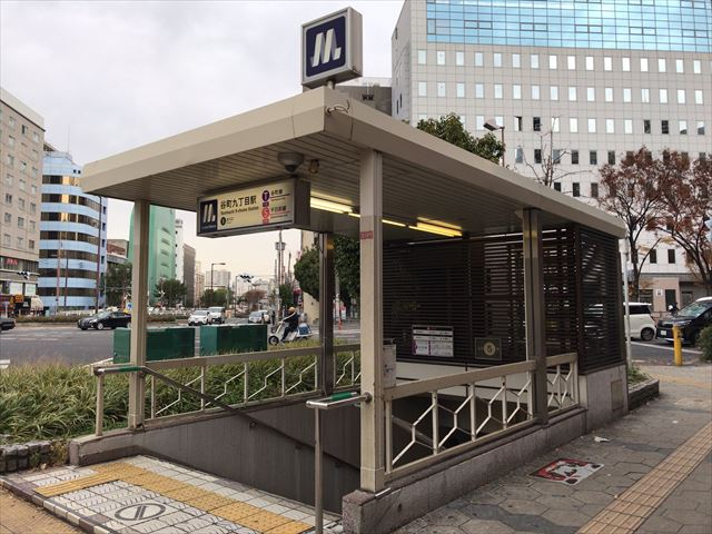 大阪メトロ「谷町九丁目駅」5番出口