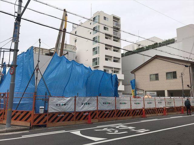 「(仮称)夕陽丘駅3分マンションプロジェクト」東側から撮影