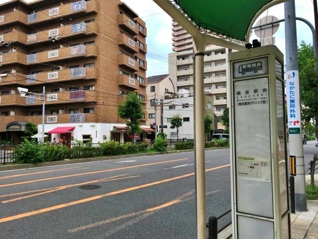 玉造筋「桃谷駅前」バス停