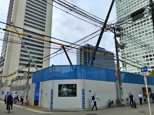 タワーマンション「シティタワー大阪本町」北側