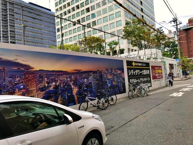 タワーマンション「シティタワー大阪本町」西側の道路