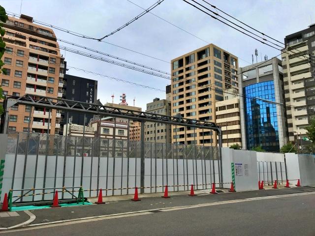 新築タワーマンション「(仮称)大阪市中央区谷町2丁目PRJ」南側