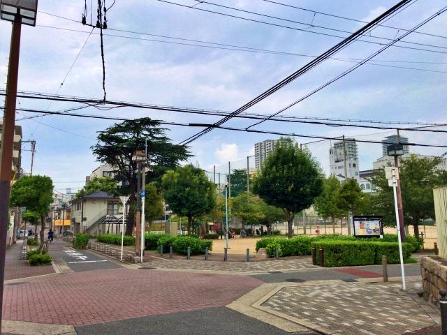 五条公園と路地