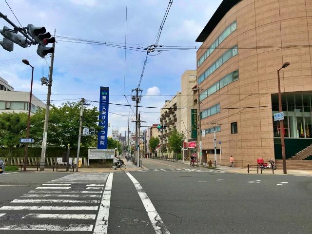 第2大阪警察病院と夕陽丘ストリート