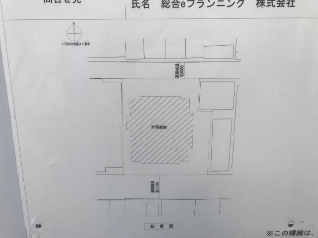 「プレサンスレジェンド大阪新町タワー」配置図