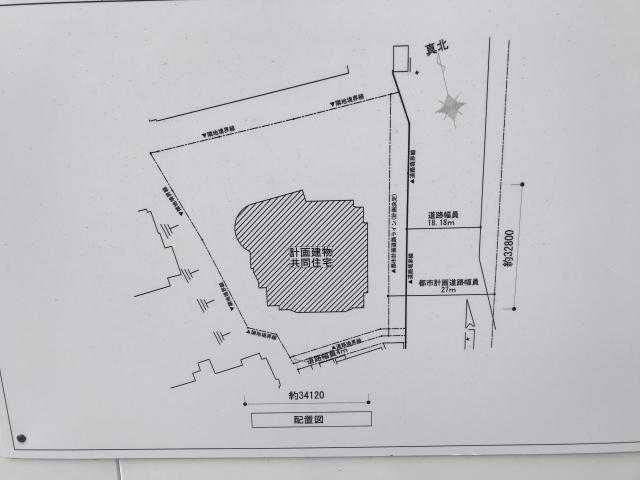 リバーガーデン「(仮称)上町台筆ケ崎プロジェクト」配置図