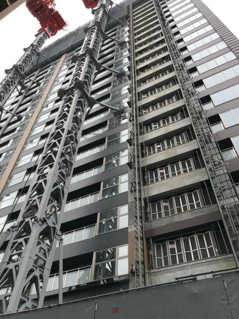 「シエリアタワーなんば」南側から上階を撮影