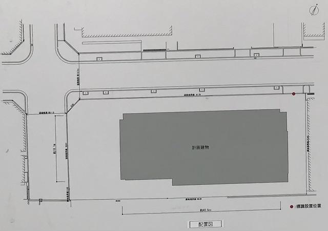 「クラッシィタワー靭公園」配置図