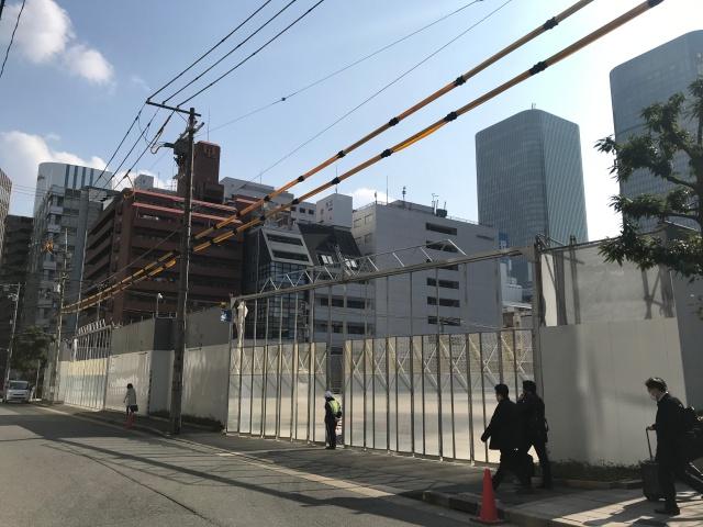 「(仮称)堂島2丁目計画」北側