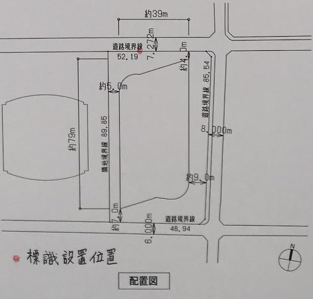 「(仮称)堂島2丁目計画」配置図
