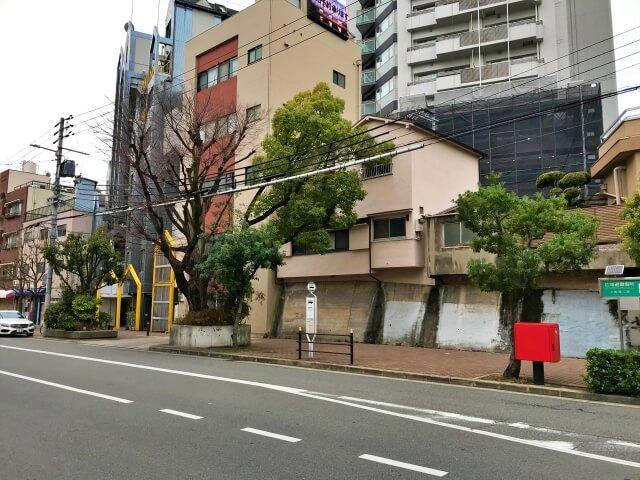 大阪シティバス「清水谷町」バス停