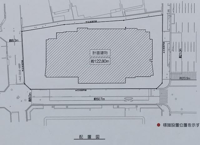 「プレミストタワー靱本町」配置図