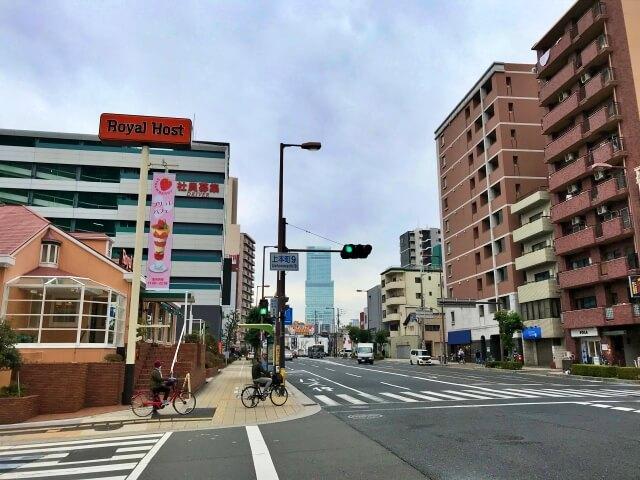 上本町9丁目付近の交差点