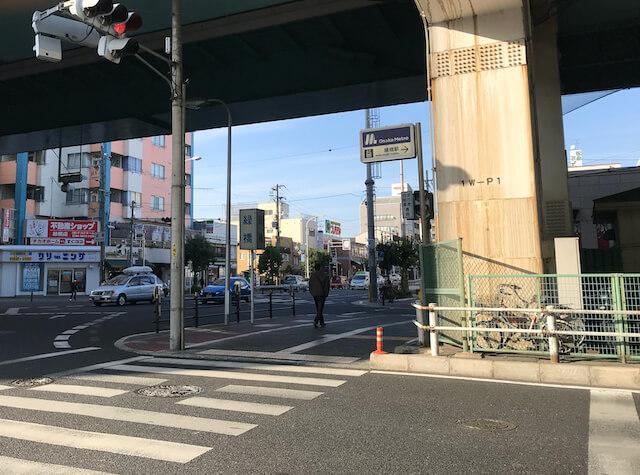 大阪メトロ「緑橋駅」エレベーター出入口