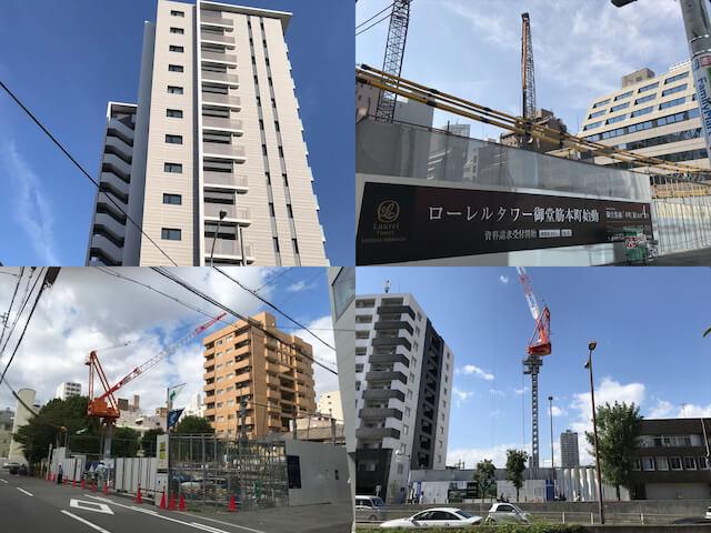 大阪に建設している近鉄不動産ローレルの分譲マンション