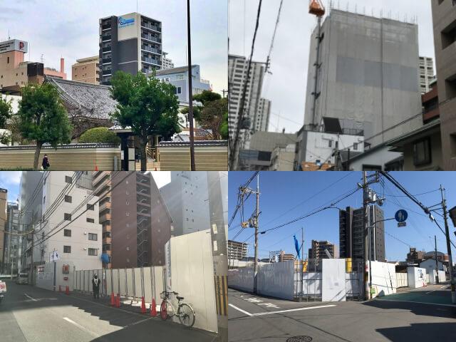 大阪に建設しているプレサンスロジェの分譲マンション