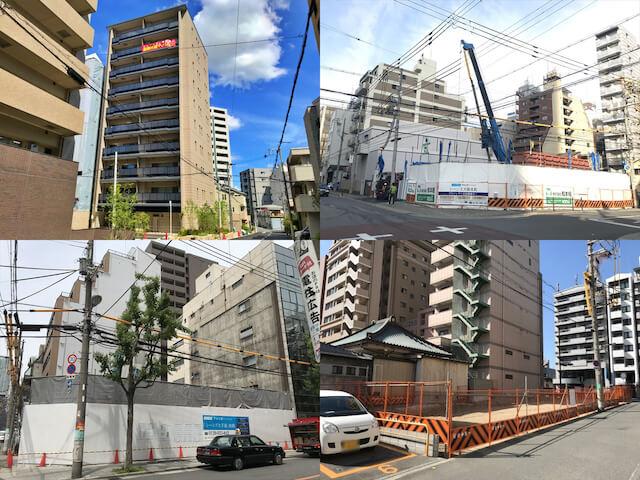 大阪に建設している大阪ガス都市開発「シーンズ」の分譲マンション