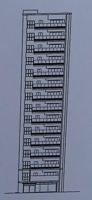 「シーンズ上本町」立面図