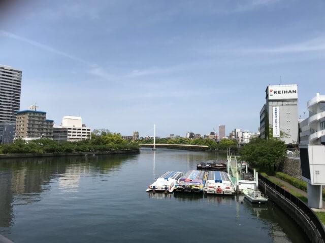 天満橋から大川を撮影