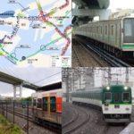 2025年大阪万博の鉄道延伸マップ、大阪メトロ中央線、JRゆめ咲線、京阪中之島行き