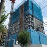 「シエリア大阪上町台パークタワー」2020年9月工事進行状況(北側)