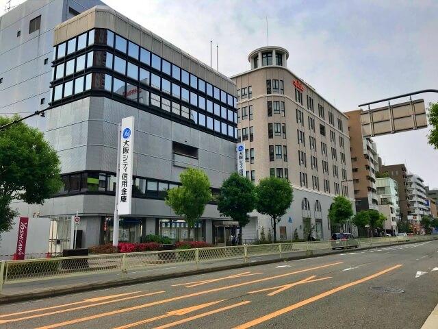アピデ本社と大阪シティ信用金庫森ノ宮支店