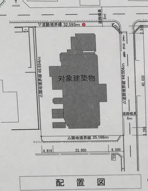 「リバーガーデン(仮称)上町一丁目計画」配置図