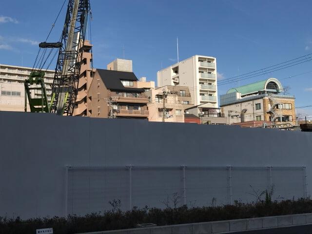 「リバーガー「リバーガーデン上町一丁目」2020年12月26日工事進行状況(南側)