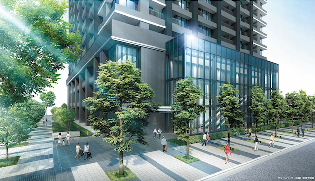 「シティタワー大阪本町」グリーンパーク(広場)完成予想図