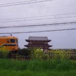 平城京を横断する近鉄特急