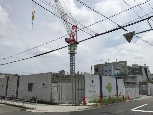 「グランドメゾン上町一丁目タワー」2020年9月工事状況
