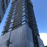 「ザ・ファインタワー大手前」2020年12月26日工事進行状況(南東側)