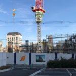 「グランドメゾン上町一丁目タワー」2020年12月26日工事進行状況(西側)