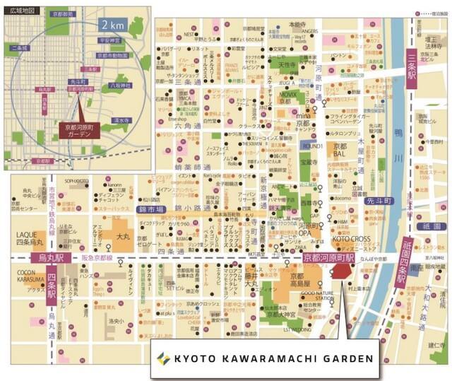 「京都河原町ガーデン」地図