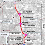 大阪モノレール延伸路線図(拡大)