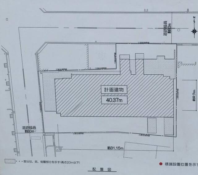 「レジェイド上本町」配置図