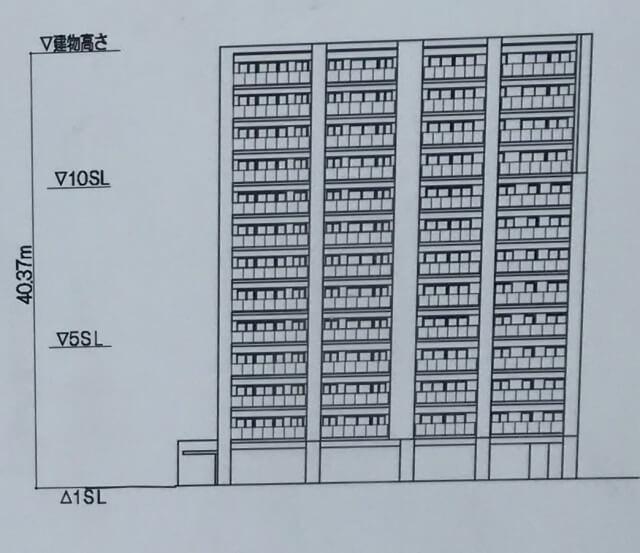 「レジェイド上本町」立面図