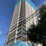 「シエリア大阪上町台パークタワー」2020年12月26日工事進行状況(南東側)