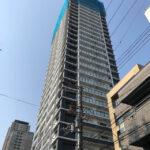 「シエリア大阪上町台パークタワー」2021年2月工事進行状況(北西)