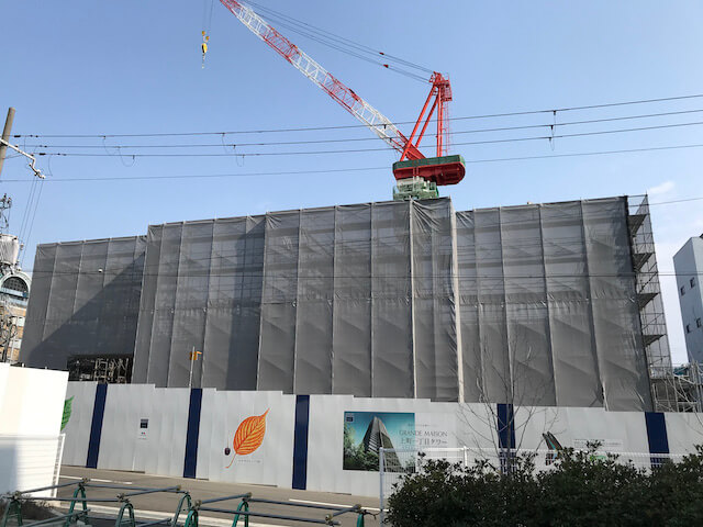 「グランドメゾン上町一丁目タワー」2021年2月工事進行状況