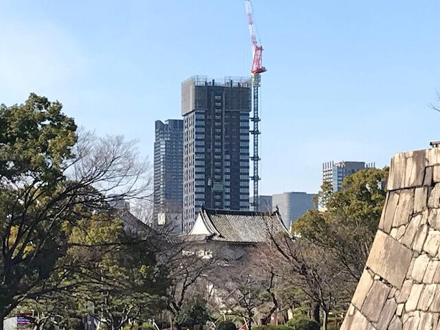「ザ・ファインタワー大手前」2021年2月5日工事進行状況