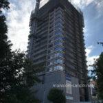 「グランドメゾン上町一丁目タワー」2021年9月下旬撮影:工事進行状況
